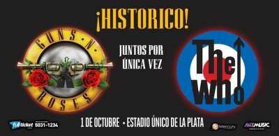 Tur Bareng The Who dan Guns N' Roses