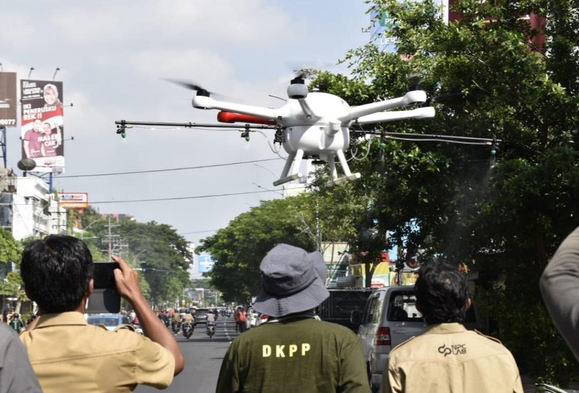 Surabaya Pakai Drone Basmi Virus Corona