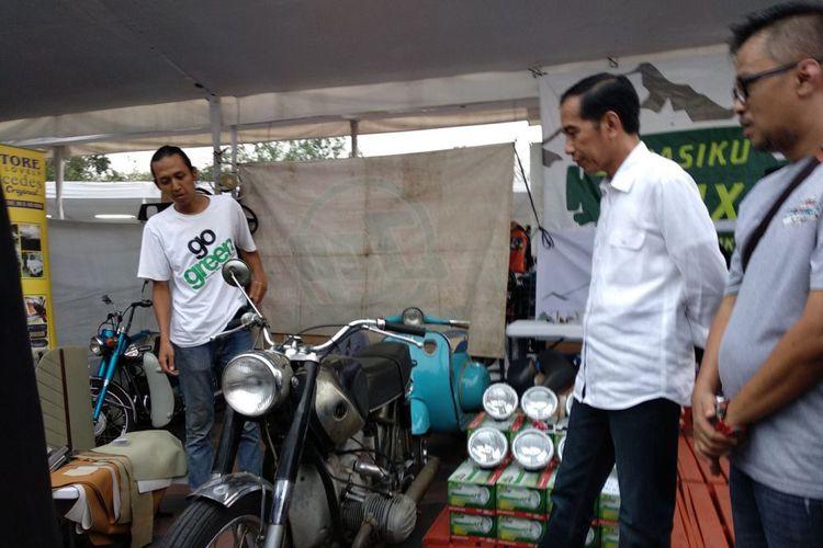 Penampakan Motor Custom Terbaru Jokowi Kali Ini Bergaya Tracker