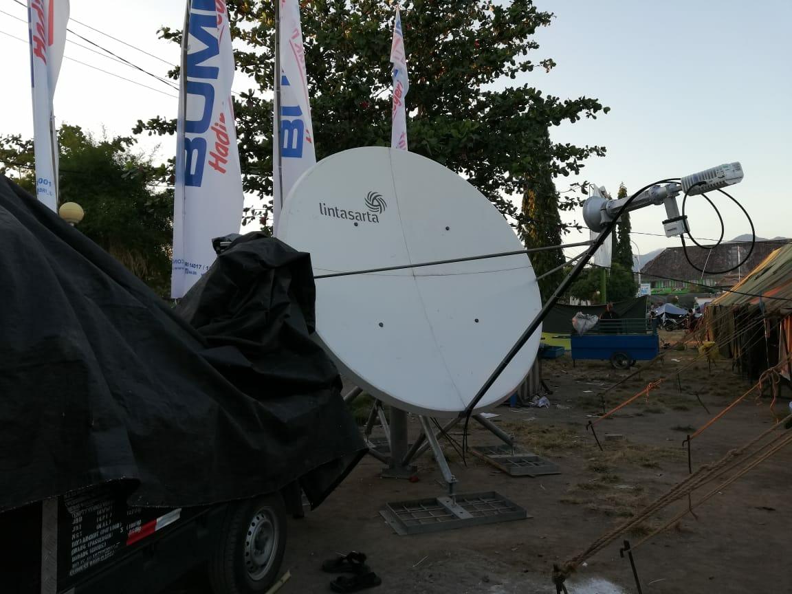 Lintasarta Sediakan Telpon Satelit dan Internet untuk Korban Gempa di Lombok