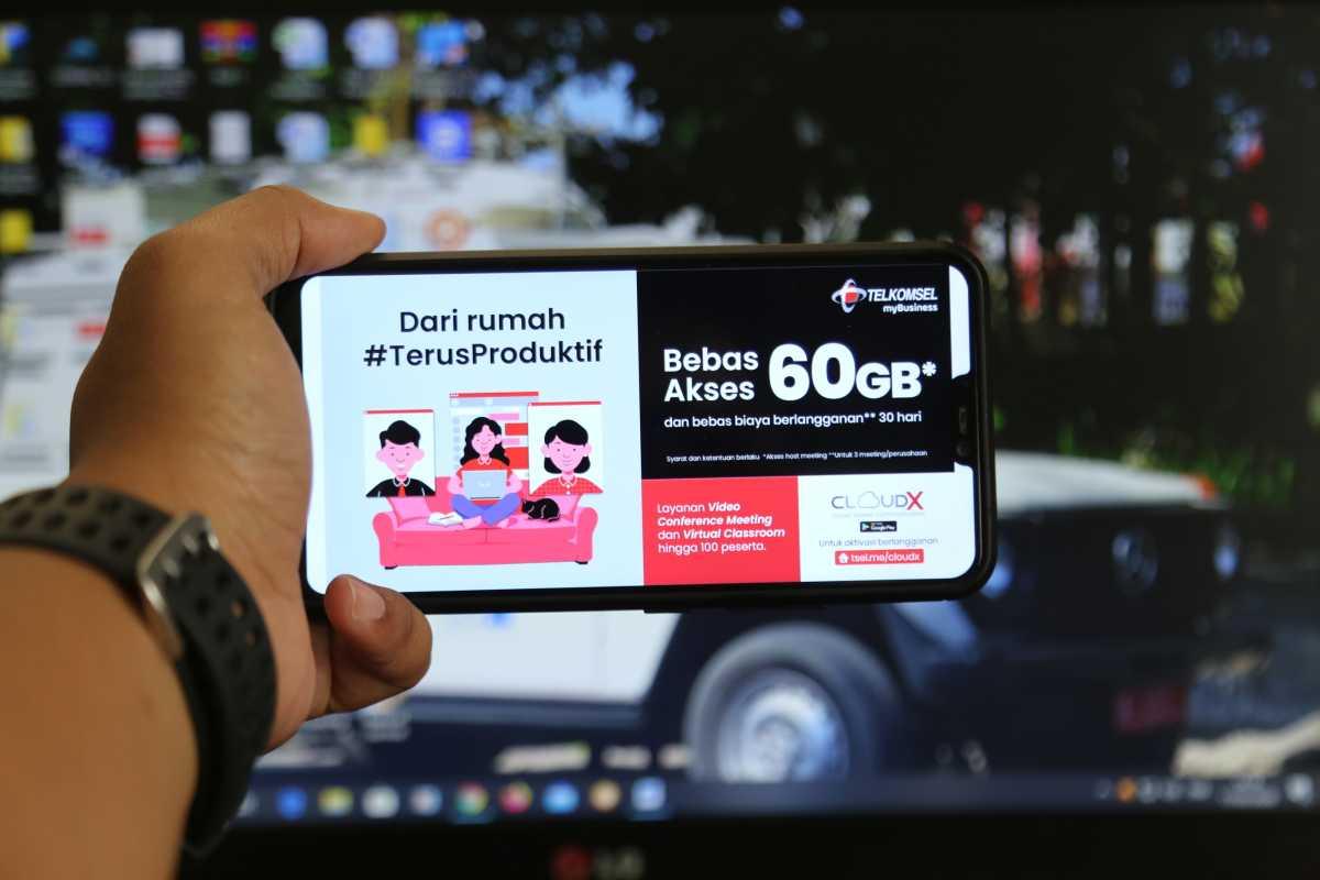 Work from Home, Chatting dan Meeting Bisa Gratis Pakai CloudX Telkomsel