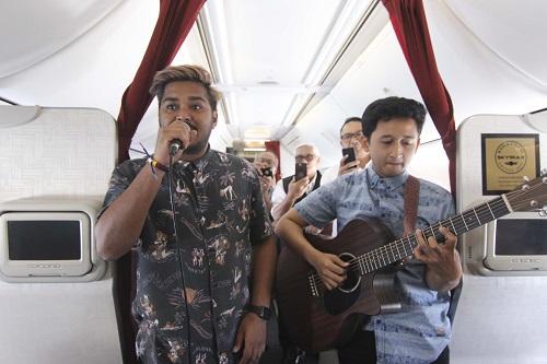 Wow,Garuda Indonesia Gelar Konser Musik di Ketinggian 35.000 Kaki