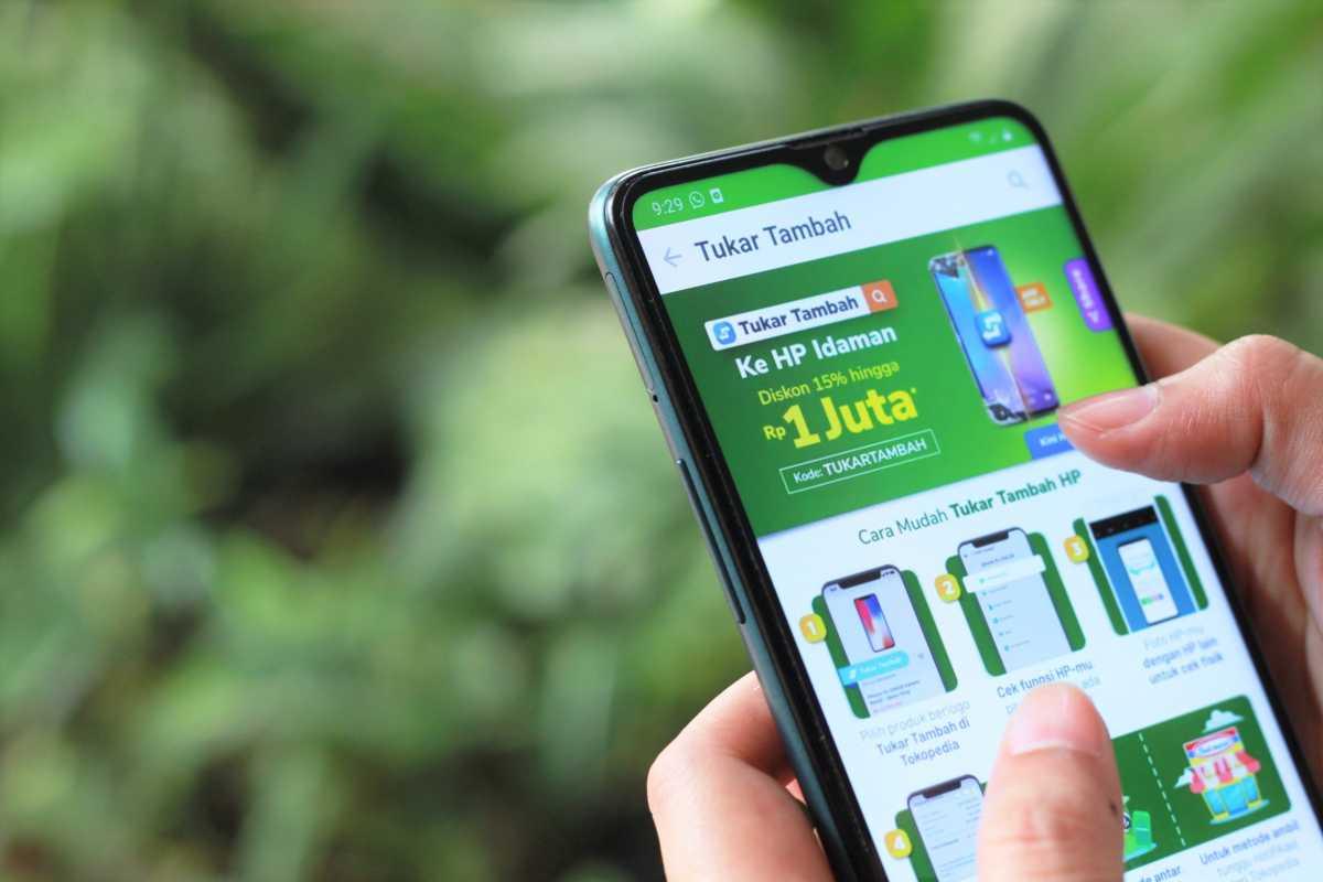 Tukar Tambah Smartphone Bisa via Tokopedia