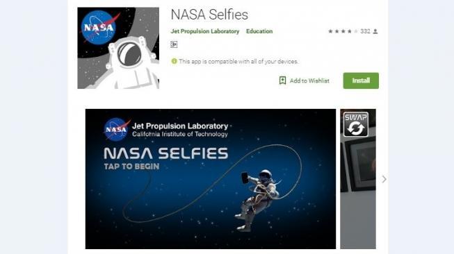 NASA Rilis Aplikasi Selfie dan VR