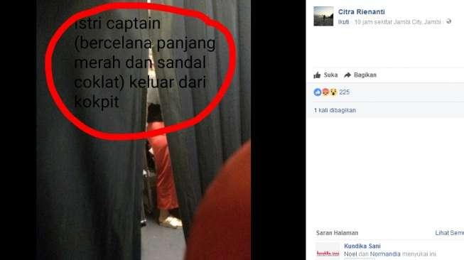 Pilot Lion Air Bawa Masuk Keluarga ke Ruang Kokpit