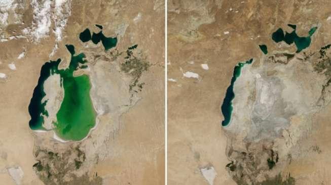 Foto-foto Perbandingan Bumi, Dulu dan Sekarang