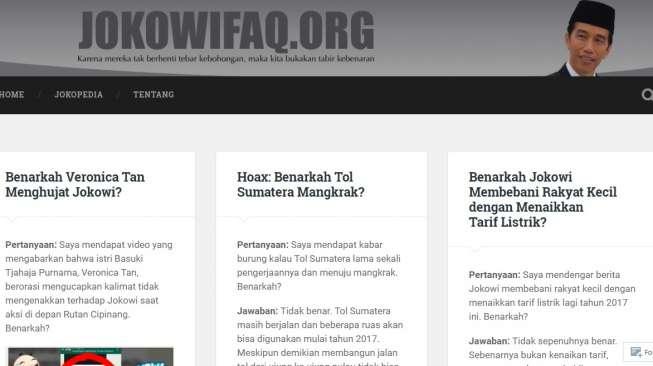 Muncul Jokowifaq.org untuk Luruskan Berita Miring Jokowi