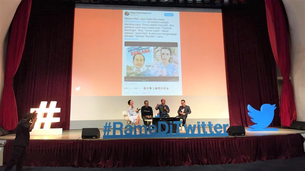 Sutopo Berbagi Kisah Menangkal Hoaks di Twitter