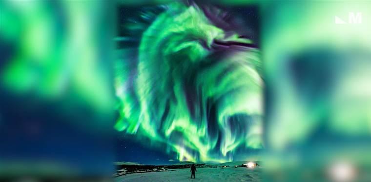 Merinding, NASA Rilis Foto 'Penampakan Naga' di Aurora