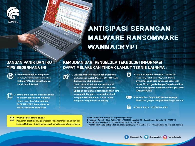 Soal Wannacry, Kominfo harus Panggil Microsoft
