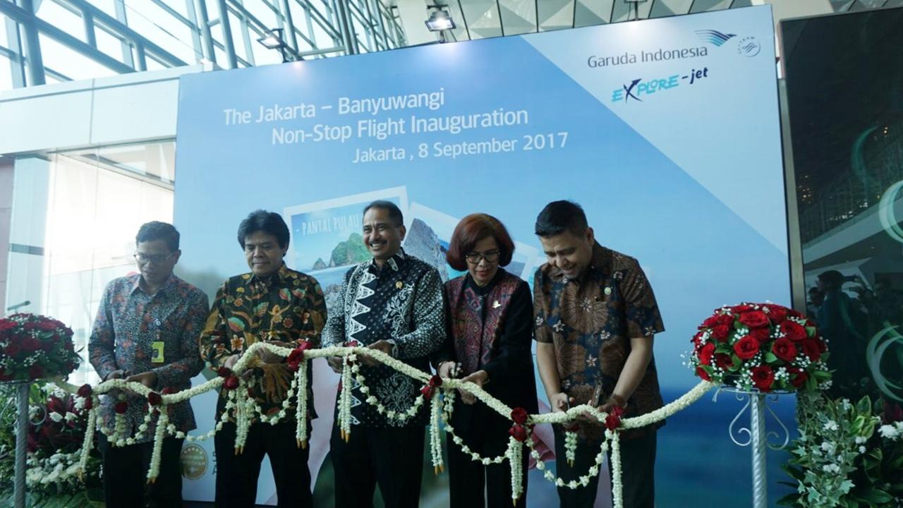 Garuda Indonesia Terbang Perdana Jakarta-Banyuwangi