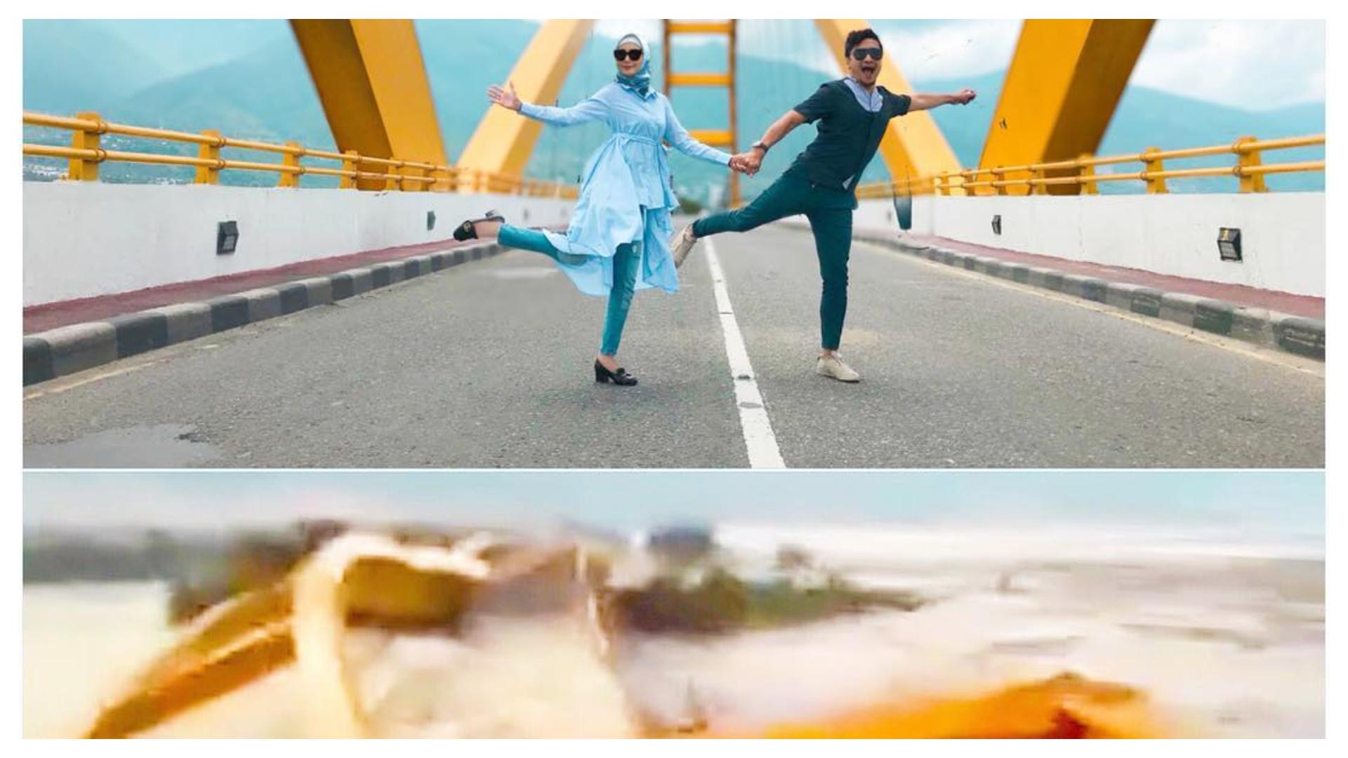 Penjelasan Arie Untung soal Postingan Jembatan Kuning Palu