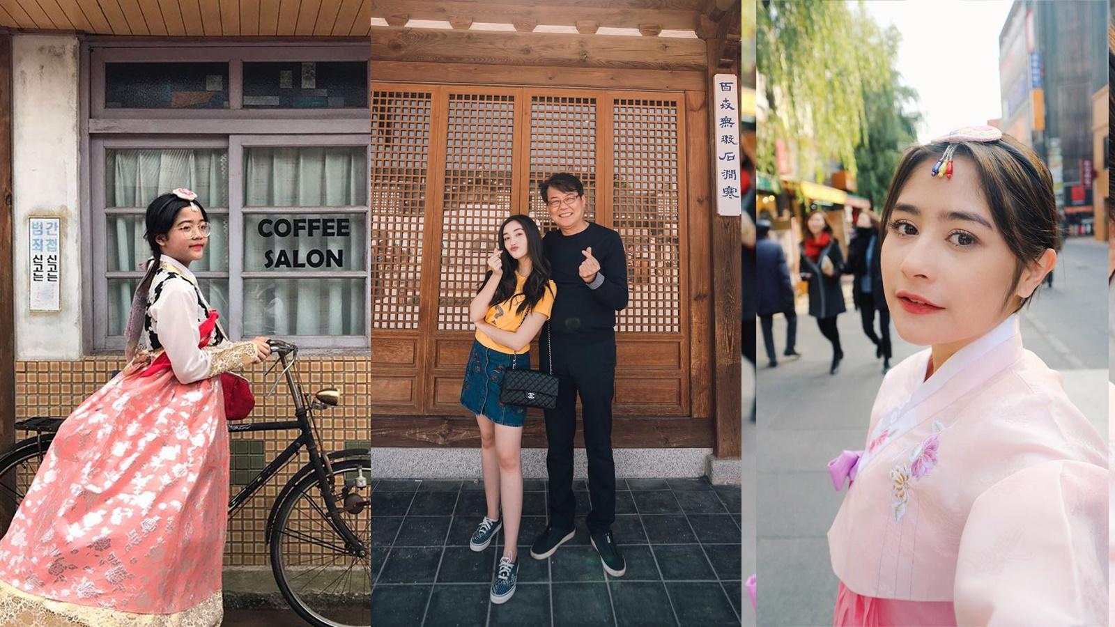 10 Potret Selebriti saat Liburan ke Korea Selatan
