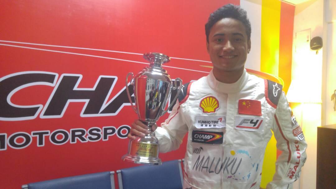 Nyong Ambon Naik Podium di Formula 4 Tiongkok