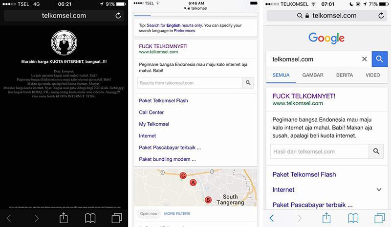 Situs Telkomsel Diretas Pelanggan yang Tak Puas