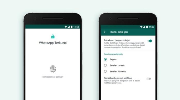WhatsApp Android Bakal Pakai Sensor Sidik Jari