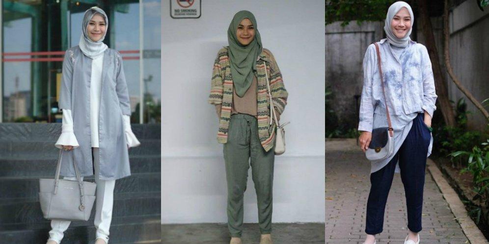 Zaskia Mecca Kombinasikan Hijab Formal Menjadi Lebih Kasual Uzone